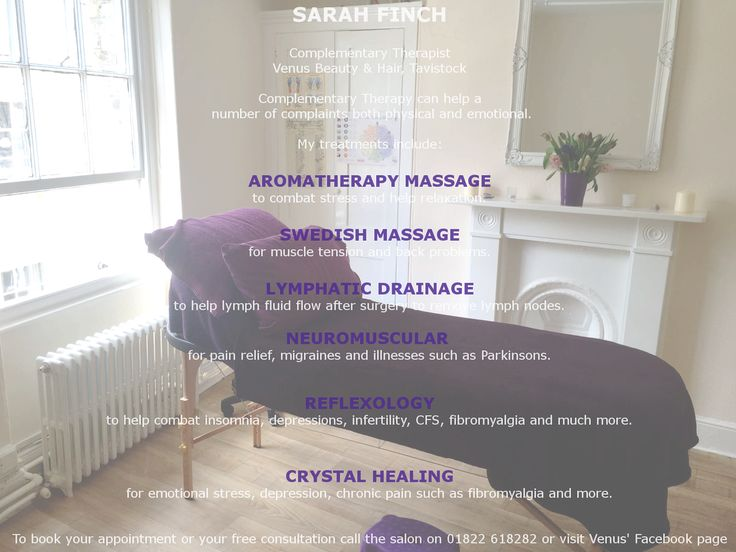 Come and visit Sarah at Venus.  Reflexology. Aromatherapy. Crystal Healing. Massage. And more!  Free consultations are available. To book your appointments call us on 01822 618282
