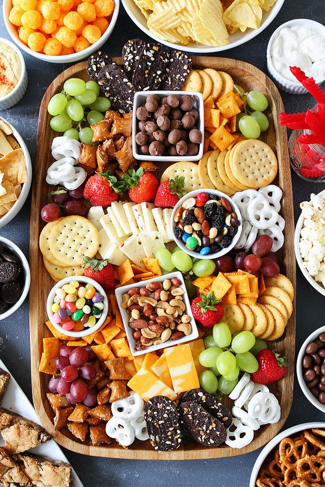 Sweet and Salty Snack Board-the perfect party food for easy entertaining.