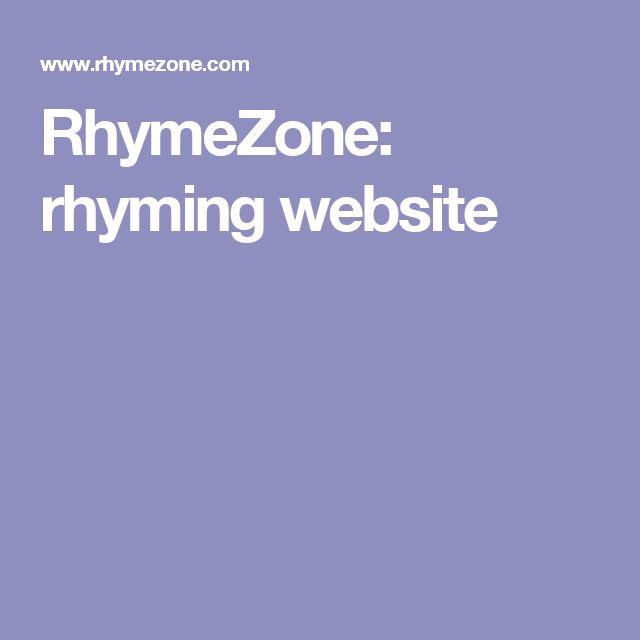 RhymeZone: rhyming website