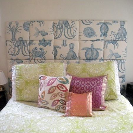 This diy headboard looks pretty easy to make it 39 s padded for Easy to make headboards