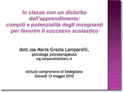 Istituto Comprensivo di sedegliano - Materiali per gli insegnanti anno scolastico 2009/2010
