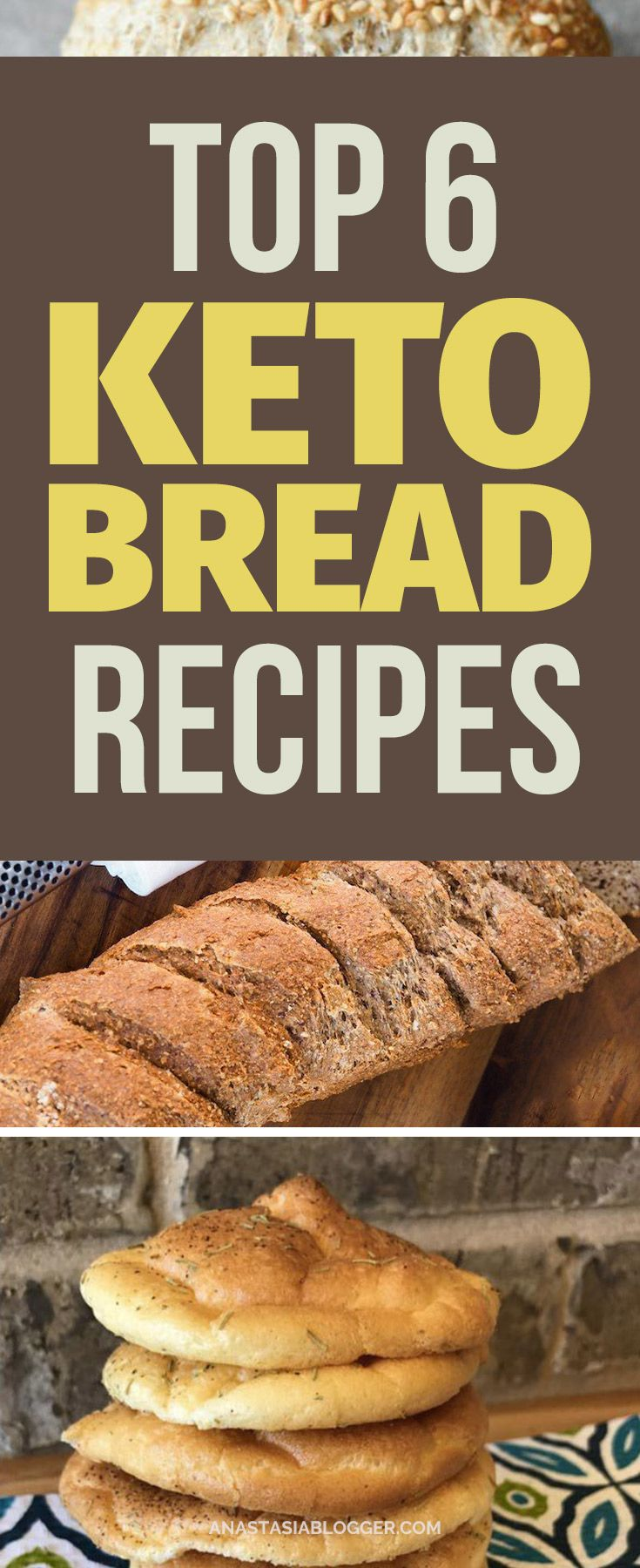 Save these best Keto bread recipes to keep your Ketosis and eat products you are used to. These Easy Low Carb bread recipes are ideal for Ketogenic diet and will help you stay in Ketosis without restricting your favorite food. #keto #lowcarb
