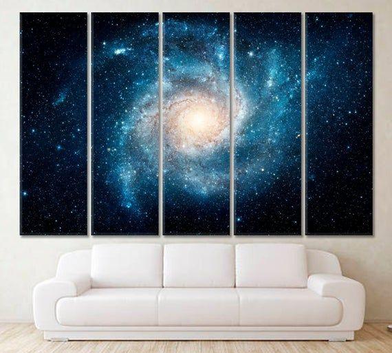 Galaxy Wall Art Universe Canvas Print Star Artwork Space Etsy In 2020 Space Wall Art Cosmos Art Nasa Art