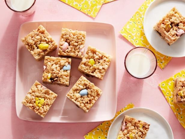 Get Leftover Easter Candy Crispy Treats Recipe from Food Network