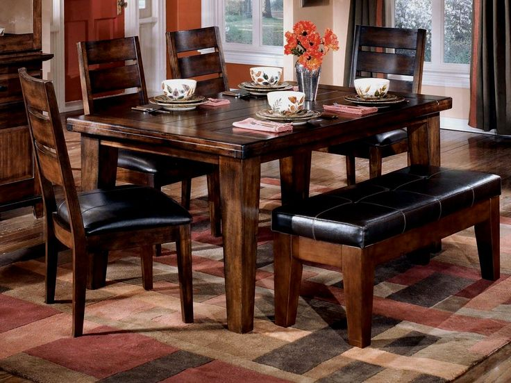 Black Dining Room Set With Bench - http://godecorator.xyz/black-dining-room-set-with-bench/