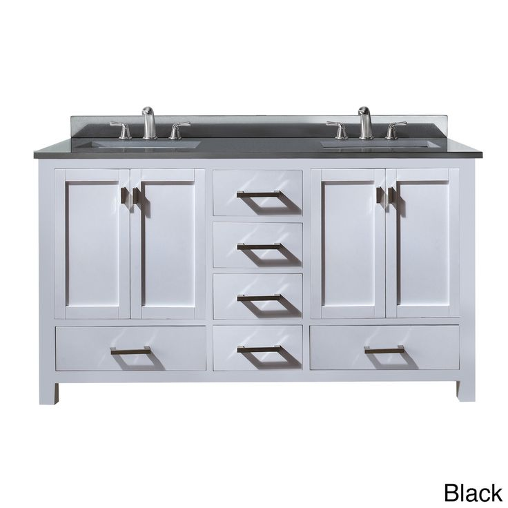 Avanity Modero 60 Inch Double Vanity In White Finish With Dual Sinks And Top By Avanity Great
