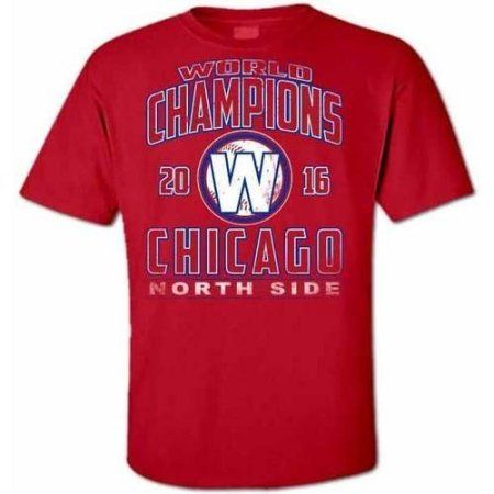 Chicago Baseball 16 Distressed Champions 2X Large T-Shirt, Men's, Size: XL, Red