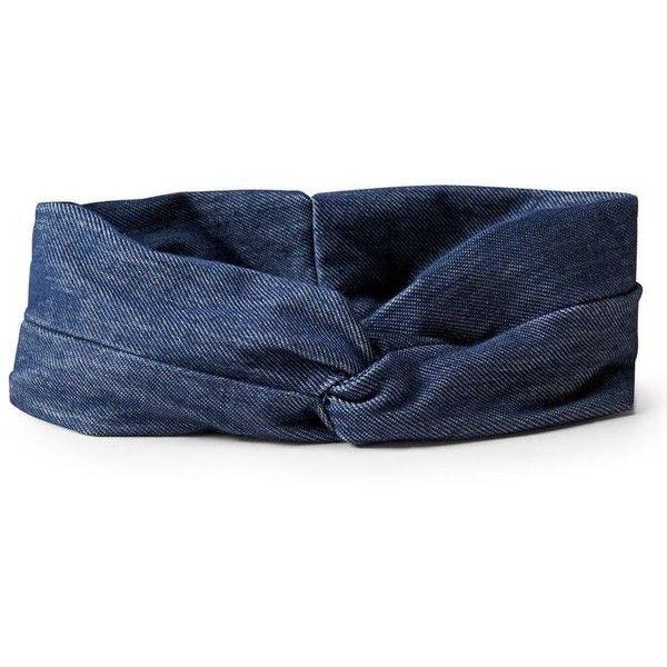 Faux Denim Headband ❤ liked on Polyvore featuring accessories, hair accessories, hair band headband, hair band accessories, blue headband, head wrap headbands and headband hair accessories