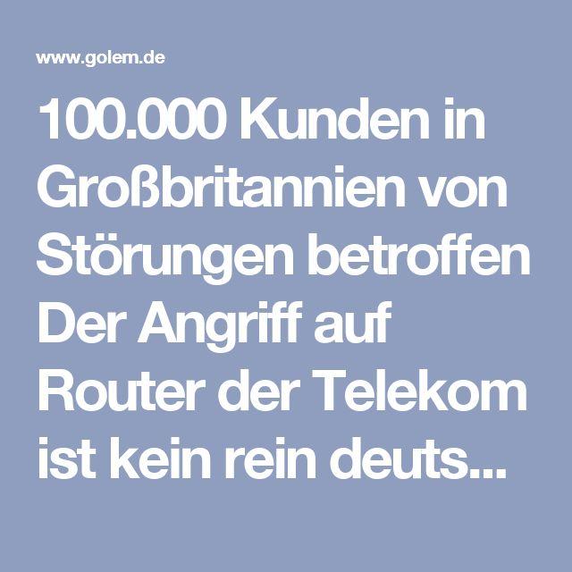 100.000 Kunden in Großbritannien von Störungen betroffen  Der Angriff auf Router der Telekom ist kein rein deutsches Problem gewesen. Rund 100.000 Kunden in Großbritannien waren betroffen, bei einigen sind die Störungen noch nicht behoben und erfordern manuelle Eingriffe.  Nach der mutmaßlich durch das MIrai-Botnetz verursachten Großstörung bei der Deutschen Telekom sind offenbar auch Kunden in Großbritannien betroffen. Rund 100.000 Kunden verschiedener Provider sollen seit dem 26. November…