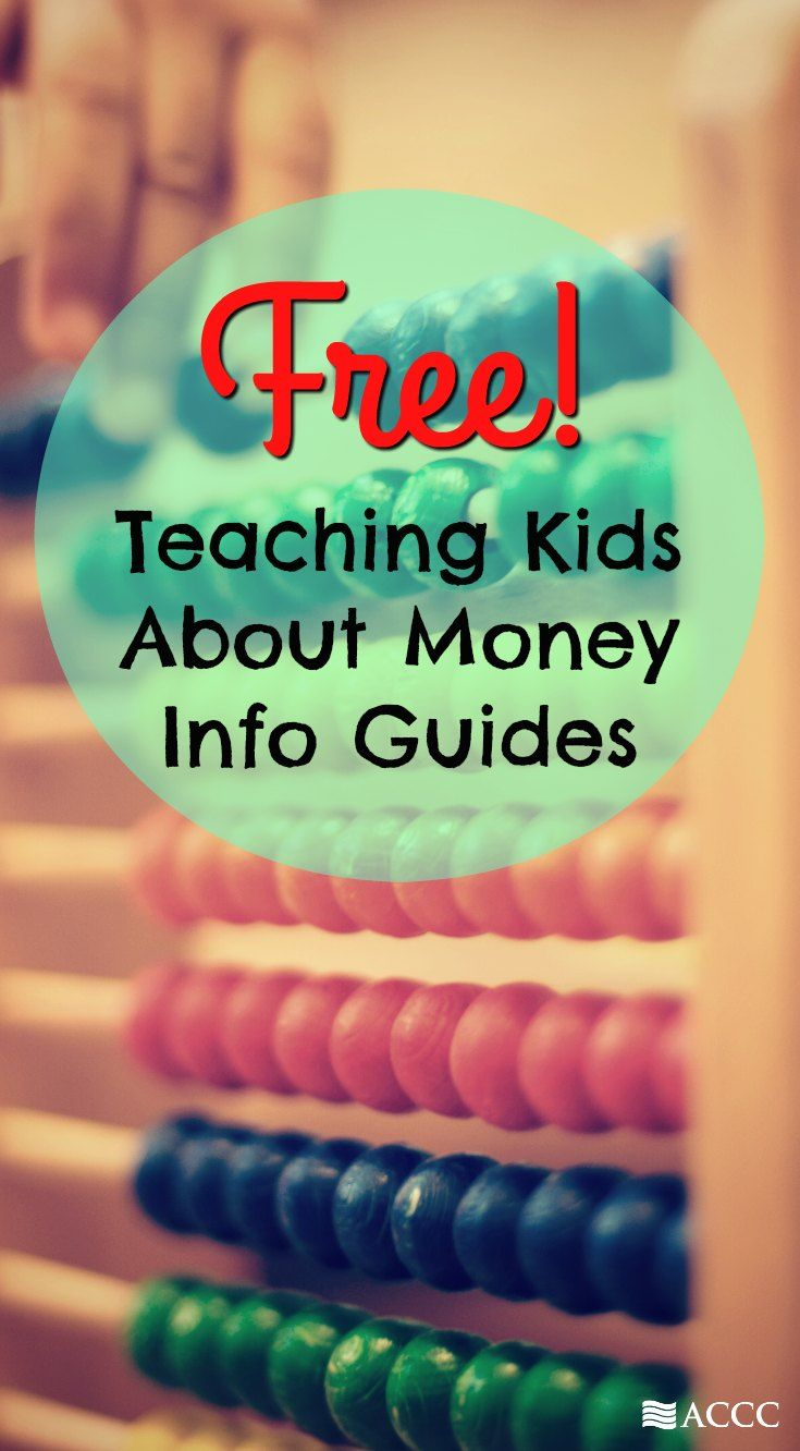 Use these free resource guides from ACCC to get started teaching kids about money.