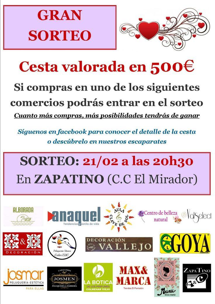 En #ColmenarViejo #Sorteamos una Cesta Valorada en 500€. Informate. http://www.autoescuelagoya.com/autoescuelaenmadrid/sorteo_cesta_colmenar_viejo_feb2017