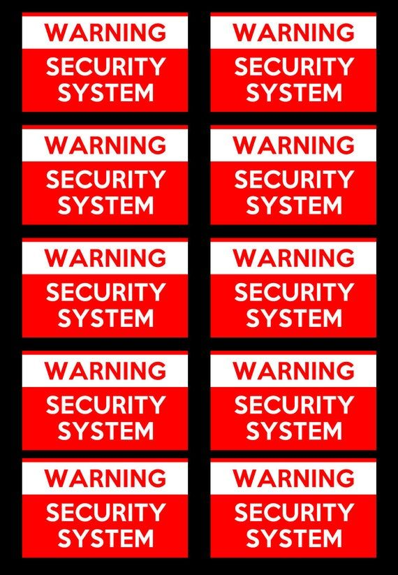 10 Premium Vinyl Classic 2 1 2 Inch Wide X 1 1 2 Inch Alarm Stickers Home Security Stickers Window Decals Magnetic Bumper Stickers Stickers Custom Window Decals