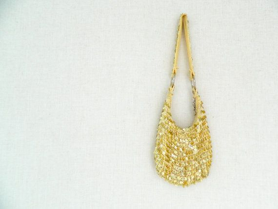 MARCIA . vintage women's gold sequin disco bag . etsyau wandarrah oz au australia . 90's