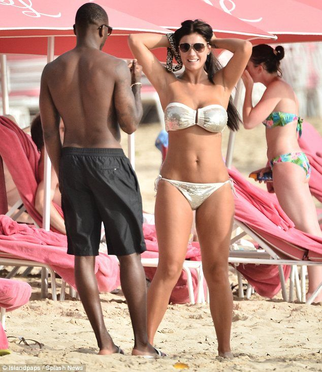 Footballer Darren Bent and new wife Kirsty Maclaren enjoying their Barbados honeymoon in the sun.