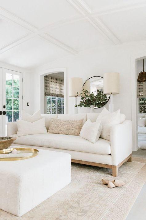 Die besten 25+ weißes Sofa Dekor Ideen auf Pinterest Wohnung - einrichten in neutralen farben ideen