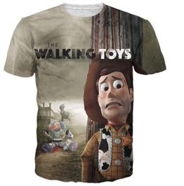 Walking Dead Toy Story Funny Parody 3 D Printed Tee Shirt