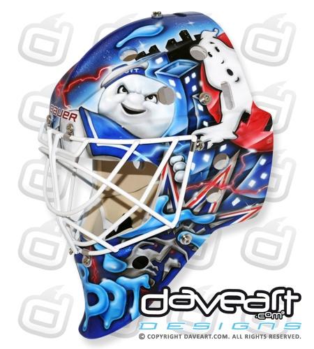 Cam Talbot's New York Rangers Ectoplasm Rocker Ghostbuster Mask - The Goalie Magazine - InGoalMag.com