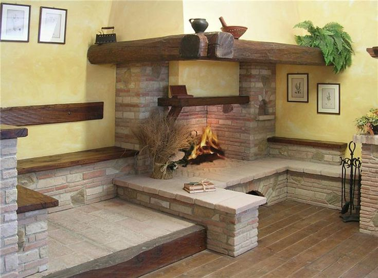 Oltre 25 fantastiche idee su caminetti rustici su for Rivestimento in mattoni per case
