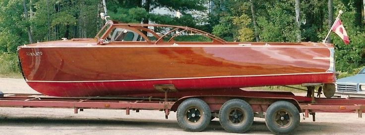 """""""Jolly Giant"""", 23 ft, 1951. Classic Antique Wooden Boats For Sale   Pb551   Port Carling Boats"""