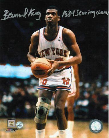 "Autographed Bernard King New York Knicks 8x10 Photo Inscribed """"1984 Scoring Champ"""""