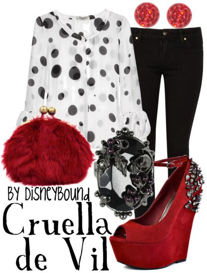 "Now I can dress like a young Cruella De Vil, one of the greatest Disney villains of all time from,""101 Dalmations."""