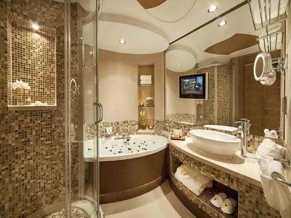 Bathroom Gorgeous Ideas : Bathroom Gorgeous Golden Bathroom Design From The  5 Star Luxury Hotel In Bahrain Gallery Of Amazing Luxurious Bathroom Designs  ...
