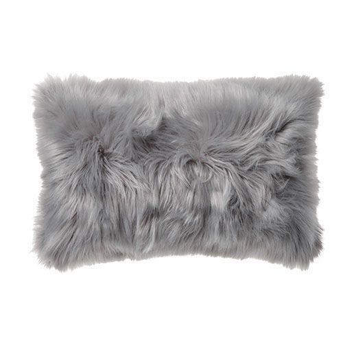 Alpine Fur Long Cushion Moonrock $42