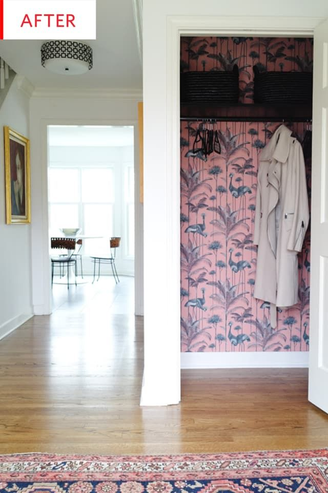 Before and After: This Living Room Coat Closet is a Total Surprise Inside