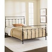 Kingston Mahogany Gold Queen Bed, Metal Bed Frame