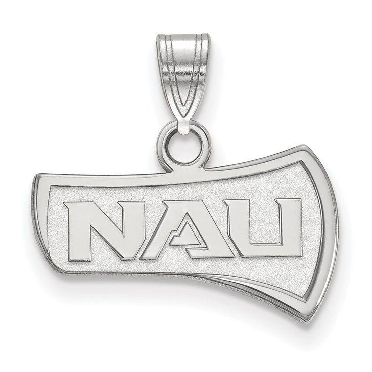 Sterling Silver LogoArt Northern Arizona University Small Pendant