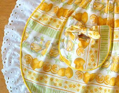 50's half-aprons with tie-pocket PATTERN/ TUTORIAL! - CLOTHING