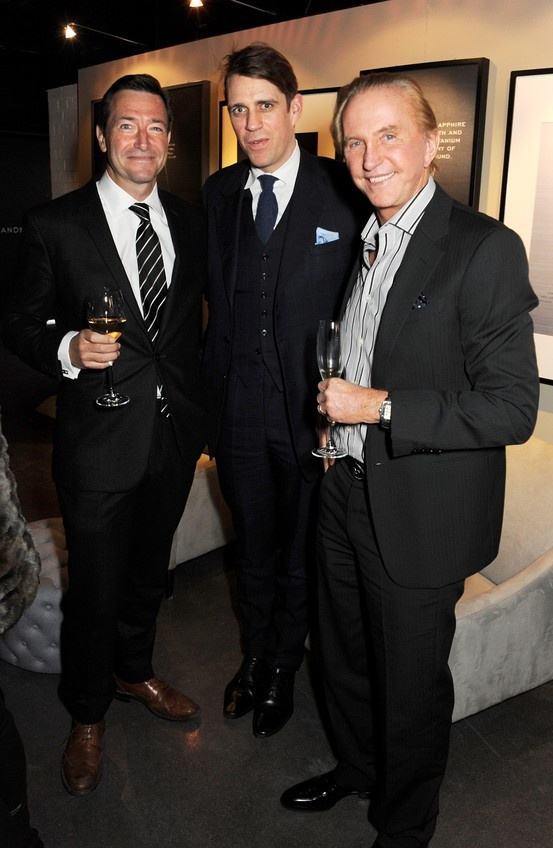 Ben Elliot,John Ridding and Geoffrey Kent at Vertu Ti launch