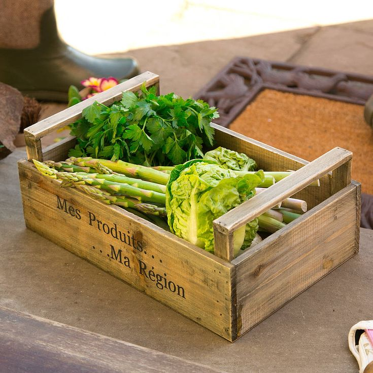 grow your own produce storage crate by dibor | notonthehighstreet.com
