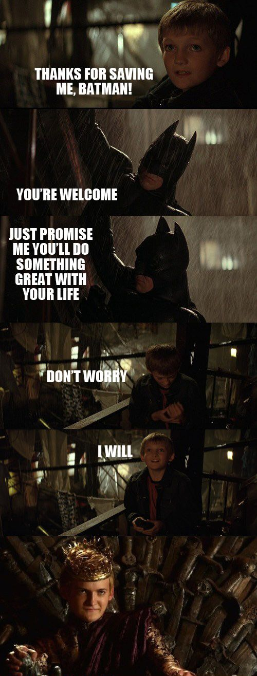Thanks for saving me, Batman!