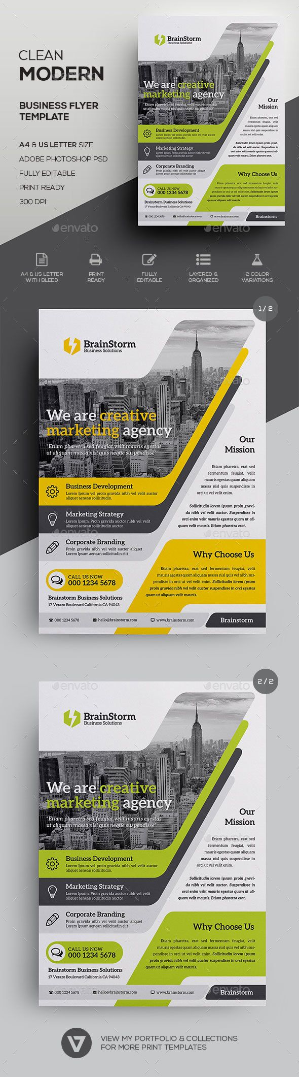 Corporate Flyer Template by verazo Creative & Modern Business Flyer Template A highly versatile corporate business flyer suitable for all business industry. Create s