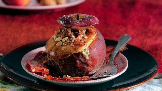 """Pommes au four """"cheesecake à l'érable"""" et bacon, inspirées de la cabane..."""