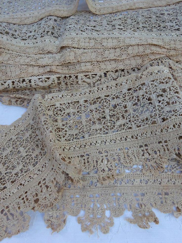Антикварные ранние белья из кружева границы и вставки отделкой 18th 19th века??? | eBay