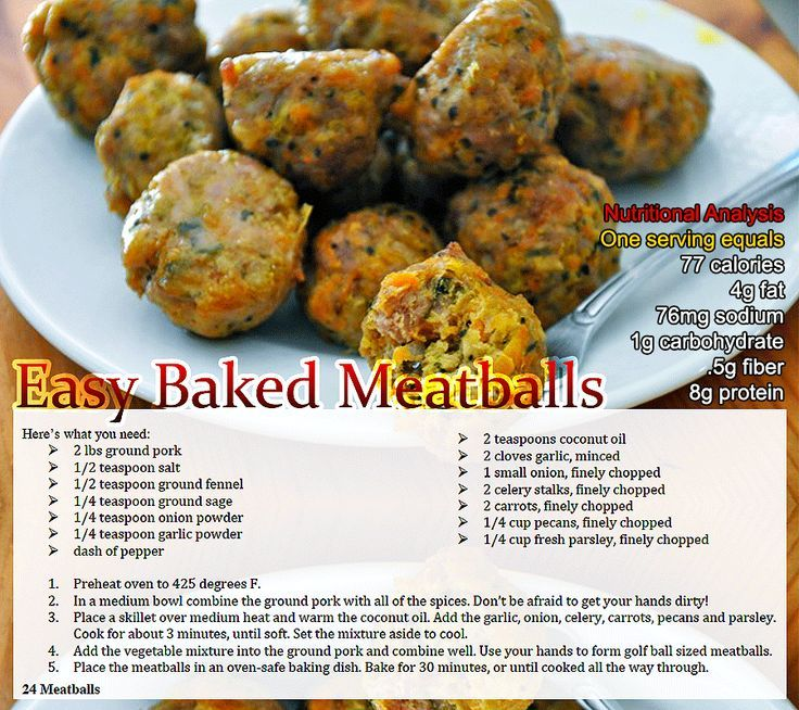Paleo Healthy and Savory Turkey Meatballs