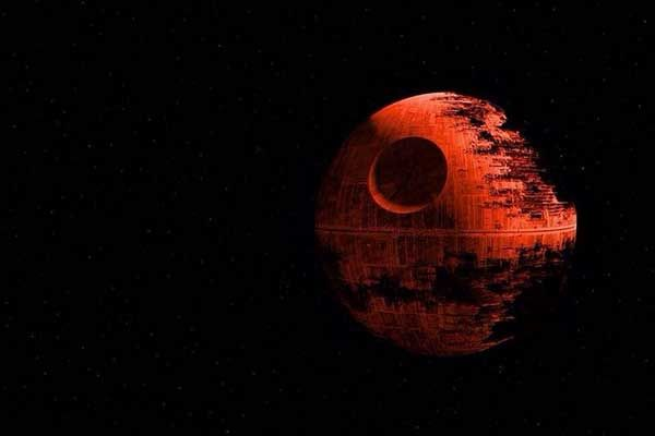 "Caption: ""A ""Death Star"" Super Blood Moon meme from tumblr."" - 9/28/15: NASA defines a supermoon, which appears approximately 14 percent larger in diameter due to its proximity to the Earth, as a full or new moon that falls closest to the fall equinox, and is at its closest approach to the Earth."