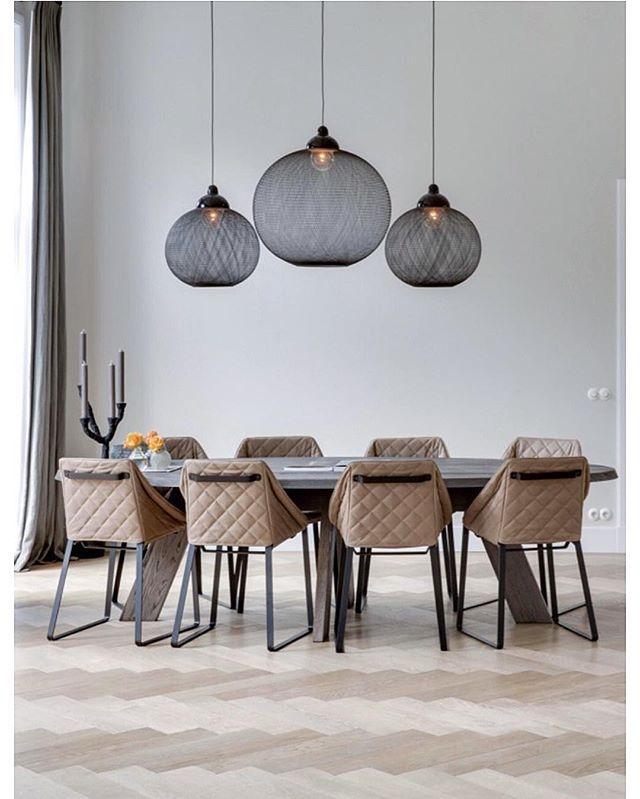 Divine Dining room by design/architecture firm, Van der Windt.• •  via HOOG.design - location: Rotterdam • . . . . . . . #dining #diningroom #rotterdam #netherlands #contemporary #lifestyleblogger #bloggestyle #bestoftheday #seekthesimplicity #finditliveit #liveauthentic #furniture #furnituredesign #lighting #lightingdesign #homestyle #homestyling #homedesign #igerslondon #ig_london #thursday #minimalobsession #scandanavian #minimalhunter