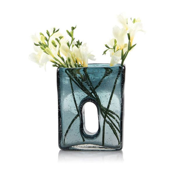 Fair and Square Vase in Blue - Large | dotandbo.com