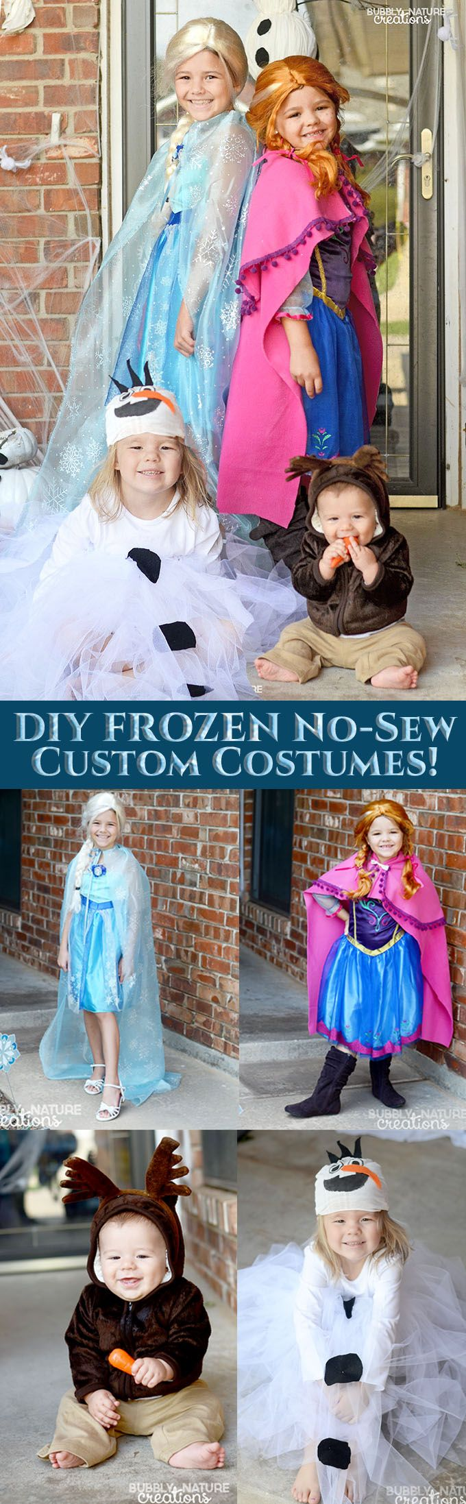 87 best halloween costume ideas images on pinterest children diy frozen no sew custom costumes its easy to customize the standard solutioingenieria Gallery