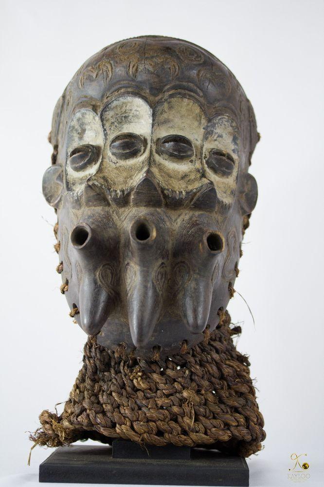 Luluwa (Lulua) 3 Face African Mask - Congo DRC - Collectors Item