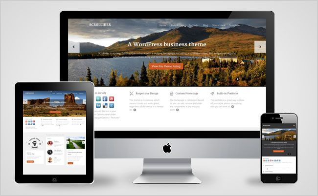 Scrollider WordPress Theme