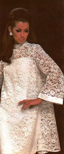 Model Veronica Hamel is wearing a creation by Pierre Balmain.  French Vogue,December 1969.