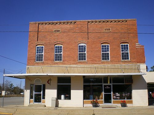 Ray City GA Berrien County Masonic Hall Building Architecture Pictures Photo Copyright Brian Brown Vanishing South Georgia USA 2008