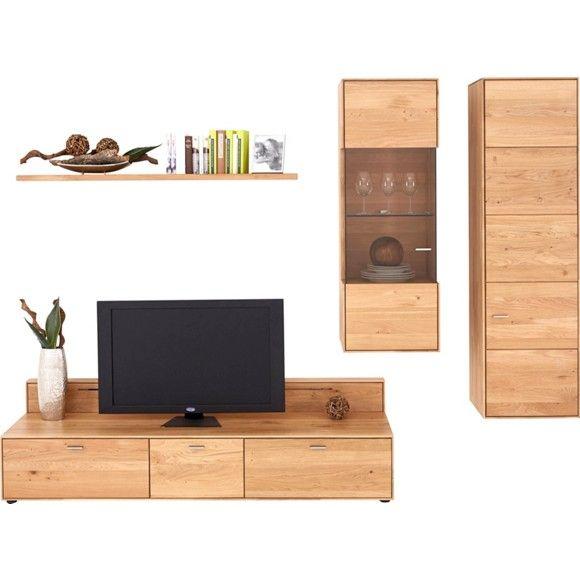 Perfect Mit dieser Wohnwand von VALNATURA machen Sie Ihr Wohnzimmer komplett Ein TV Element das Wandboard sowie H ngeschr nke bieten Ihnen vielseitige