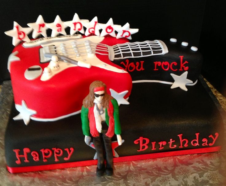 Aerosmith S Rock N Roller Coaster Theme Birthday Cake