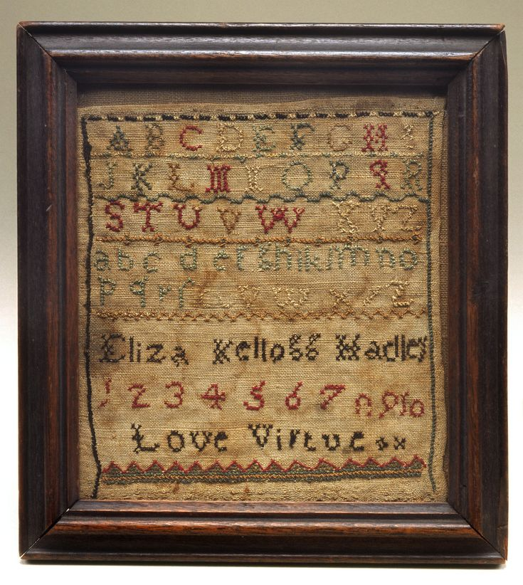 Hadley, Massachusetts  c. 1800  Silk embroidery on linen  Mr. and Mrs. Hugh B. Vanderbilt Fund for Curatorial Acquisitions, 2000.18.6