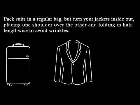 how to pack dress shirts to prevent wrinkles